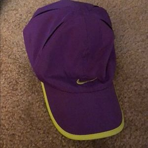 Nike Accessories - NWOT Nike Youth Hat (Lime Green/Purple)